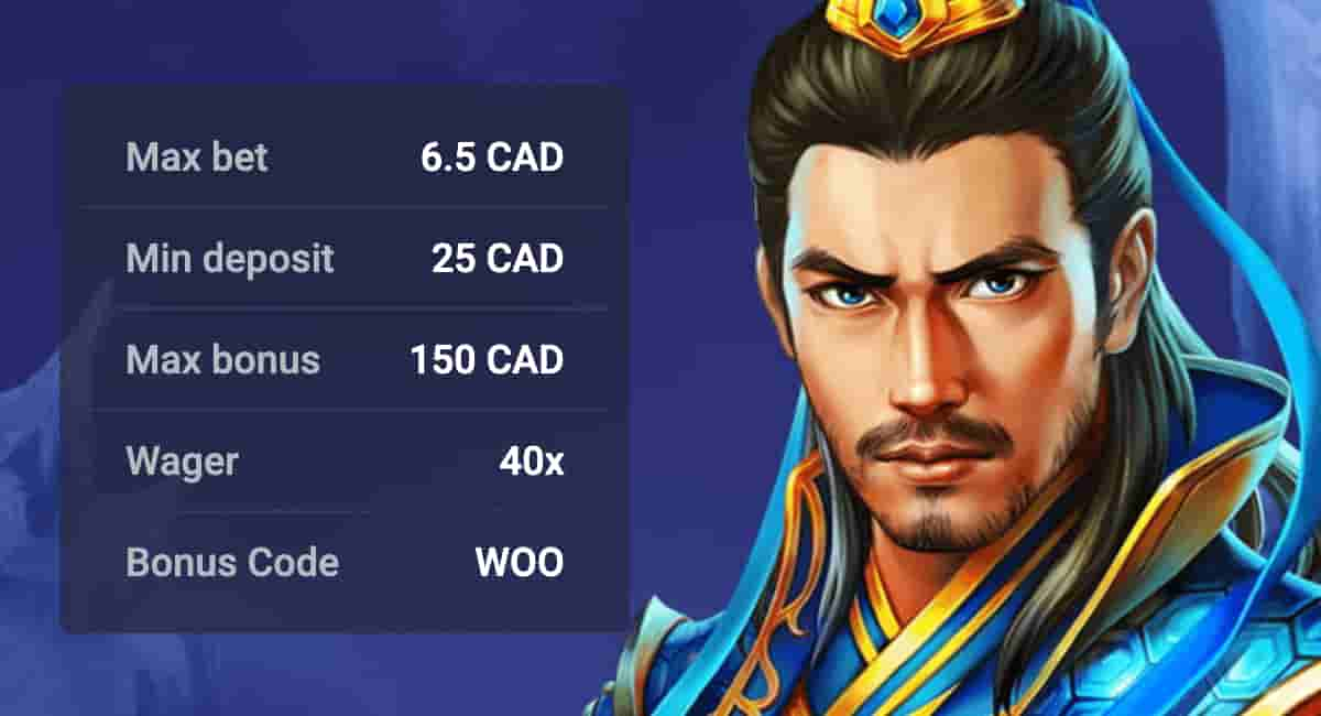 Woo Casino Bonus on the First Deposit